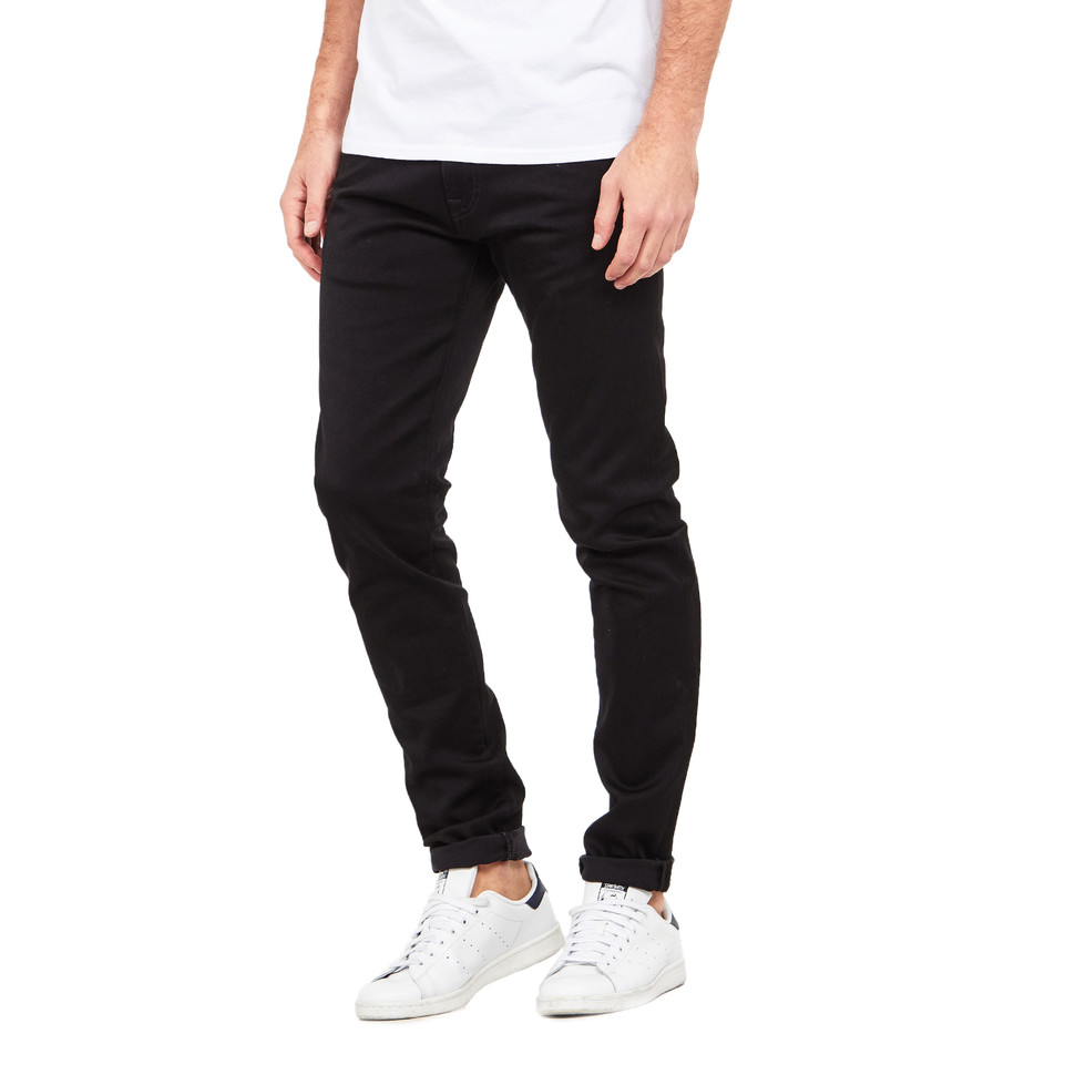 Edwin - ED-85 Slim Tapered Drop Crotch Jeans CS Ink Black Denim, 11 oz