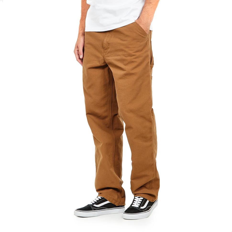Carhartt WIP - Single Knee Pant  Dearborn  Canvas, 12 oz Hamilton Brown Rinsed