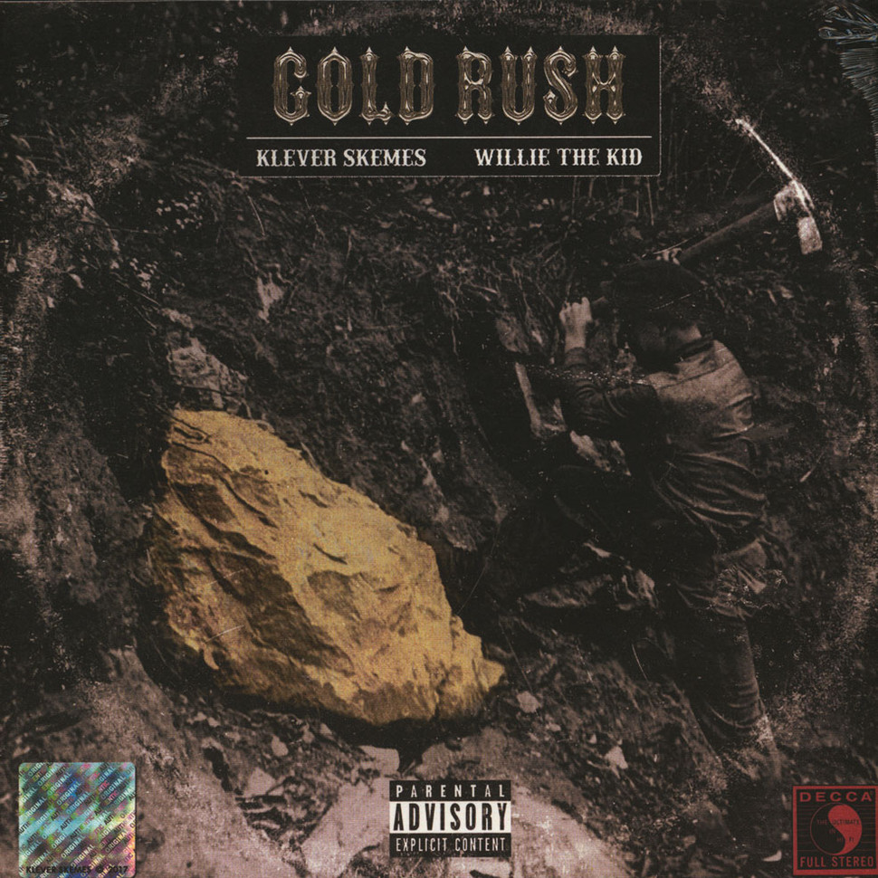 Klever Skemes & Willie The Kid - Gold Rush Gold & Black Colored Vinyl Edition