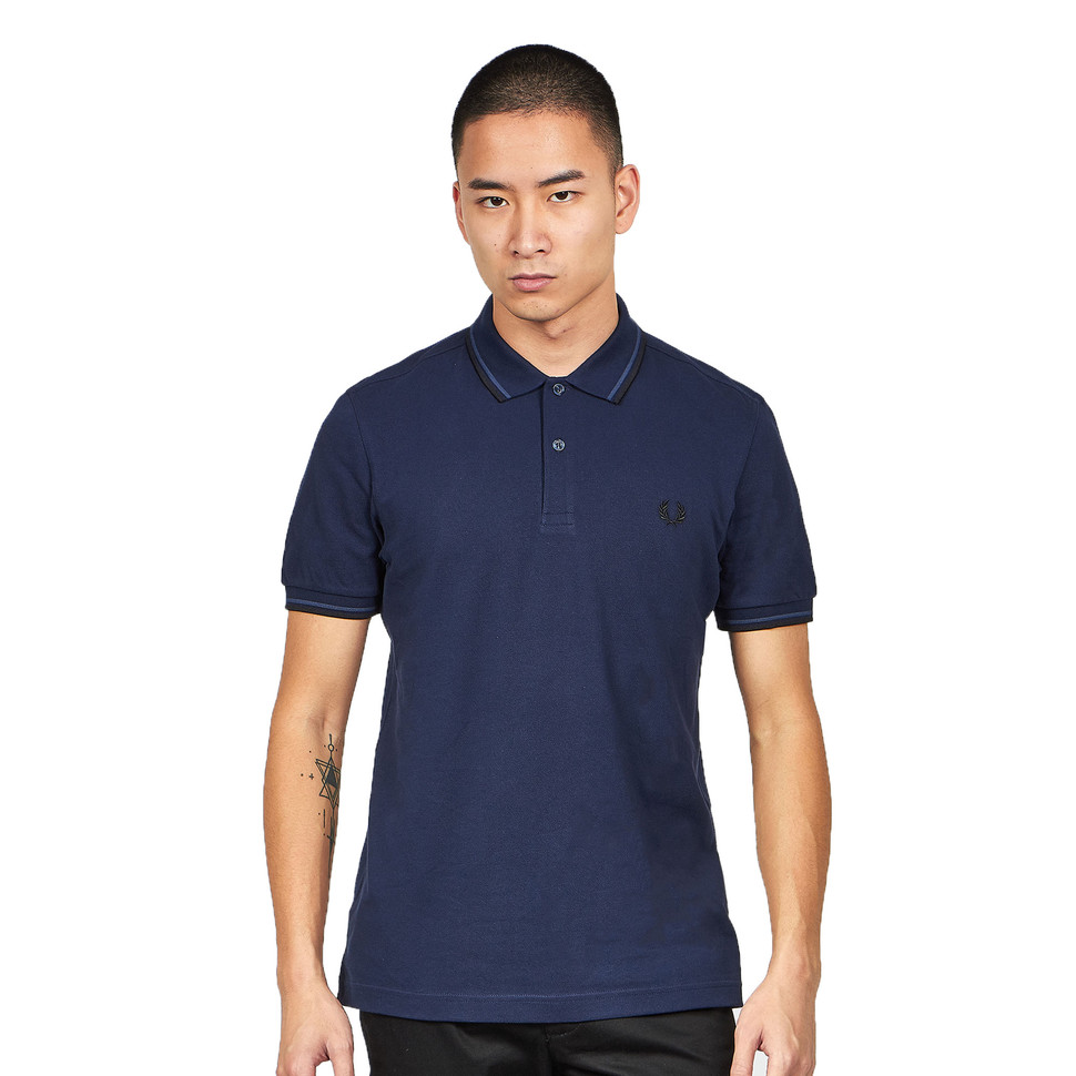 den bästa attityden 100% hög kvalitet kupongkoder Fred Perry - Twin Tipped Fred Perry Polo Shirt (Carbon Blue ...