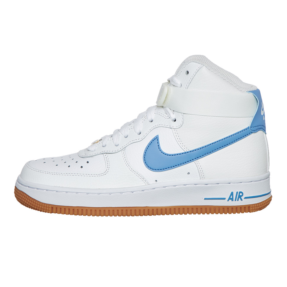 nike air force 1 high blue and white